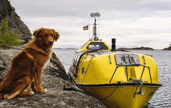 cruce en balsa al Ártico