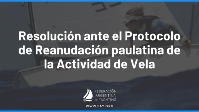 PROTOCOLO DE REANUDACIÓN DE LA ACTIVIDAD DE VELA