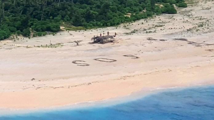 Rescate en una isla del Pacífico
