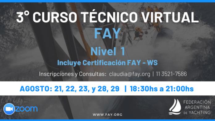 Federación Argentina de Yachting . Curso Técnico Virtual
