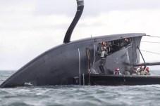 American Magic capsize