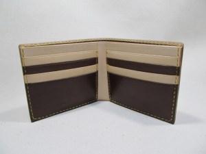 二つ折り財布4連カード入れ