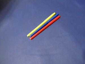 ブルーのヌメ革