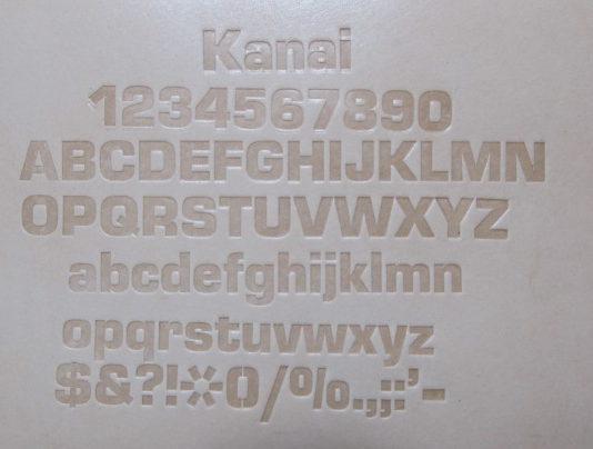 ユーロスタイルボールド刻印6.5mm