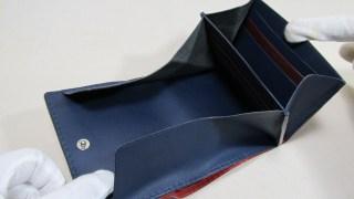 ◆コードバンレッド折り財布オーダー191212 8