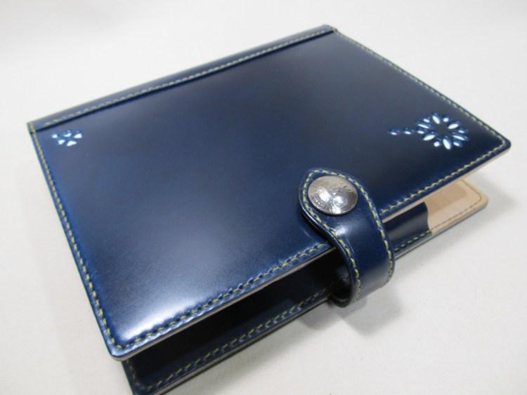 表革システム手帳A5サイズコードバンブルーネイビー200109