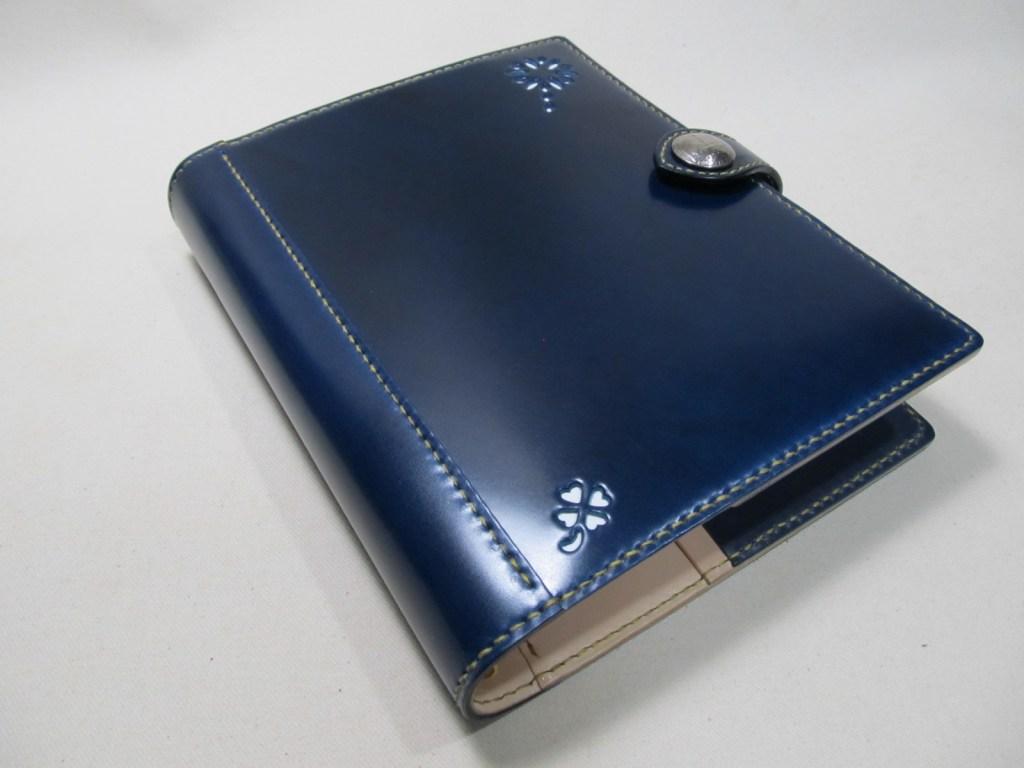 四つ葉システム手帳A5サイズコードバンブルーネイビー200109