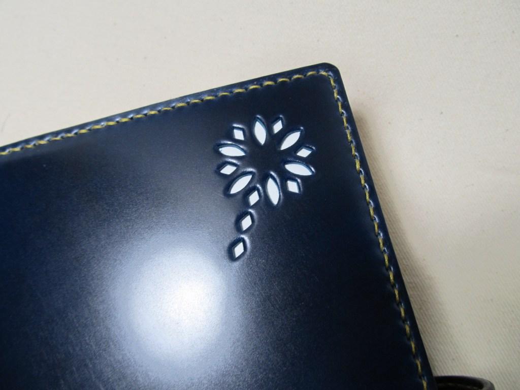 ハナビシステム手帳A5サイズコードバンブルーネイビー200109