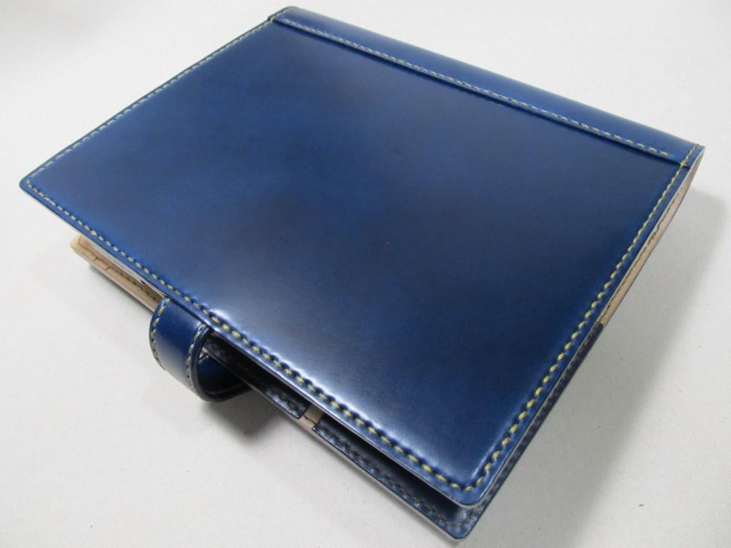 システム手帳A5サイズコードバンブルーネイビー200109背面