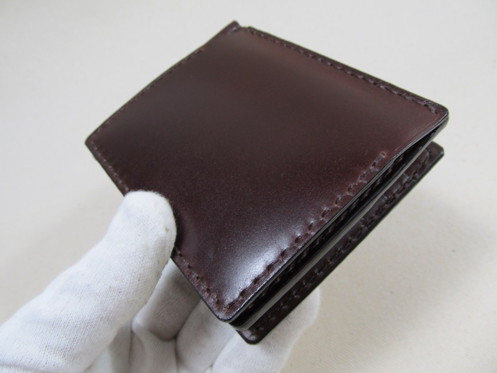 コードバンマネークリップ小銭入れ付191116