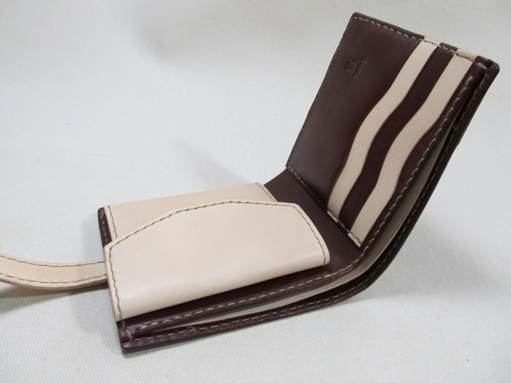二つ折り財布ワインヌメ191125