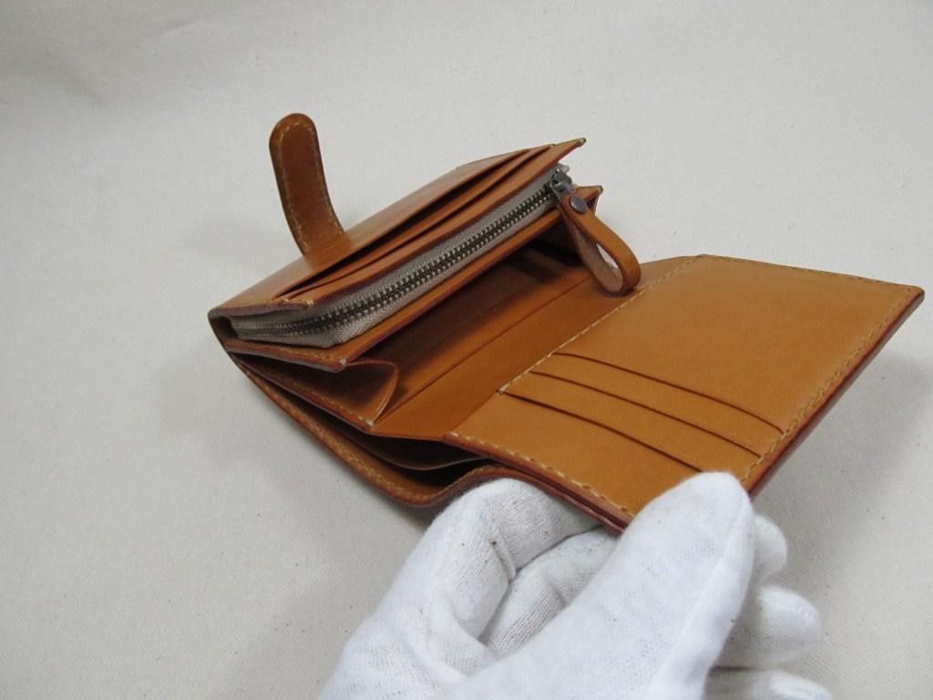 蛇腹財布ブライドルキャメル191205