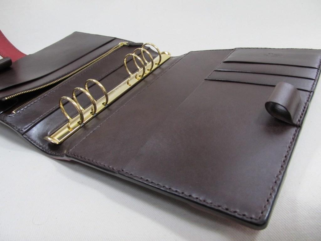 システム手帳A5サイズチョコレッド200117