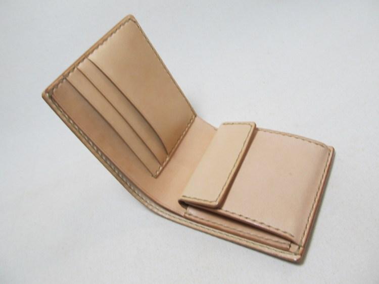 二つ折り財布内側向き小銭入れ200104