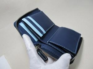 L字ラウンドファスナー二つ折り財布200512