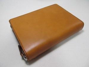 ラウンドファスナーシステム手帳バイブル 210711キャメル