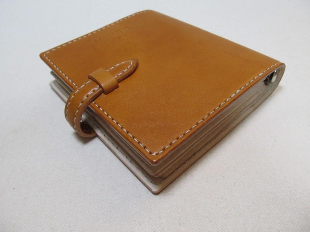 システム手帳ミニ6リング径15mm(資格証入れ)210803革製品