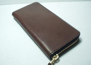 お札だけ入れるラウンドファスナー財布