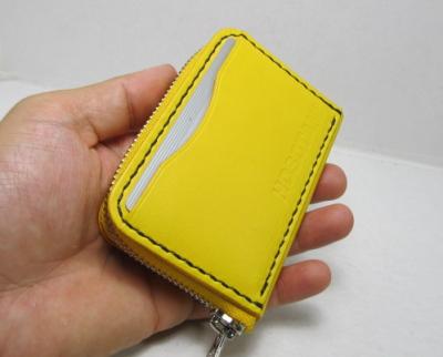 ラウンドファスナーコインケース黄色革 阪神タイガー
