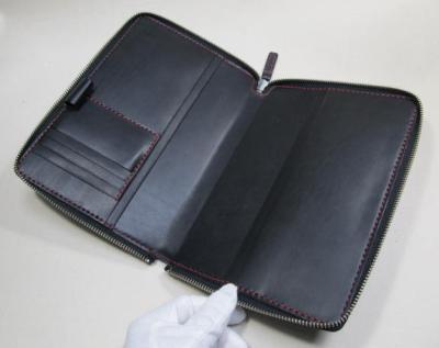コクヨのジブン手帳カバー黒革ラウンドファスナー