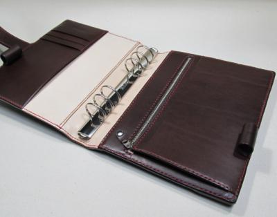 本ヌメ革システム手帳A5サイズネイビー5