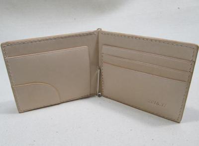 ヌメ革札バサミ3連カード入れ