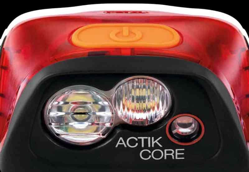 כפתור אחד לתפעול פנס הראש Actik Core