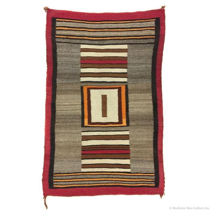 Navajo Double Saddle Blanket 1910