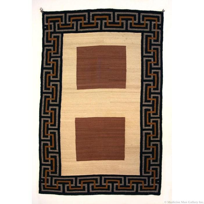 Navajo Double Saddle Blanket c. 1920