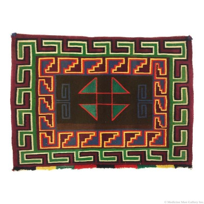 Navajo Germantown Single Saddle Blanket