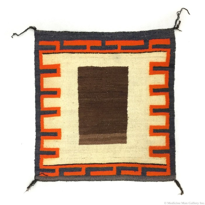 Navajo Single Saddle Blanket c. 1930