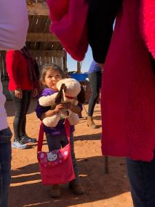 Girl Holding Stuffed Animal