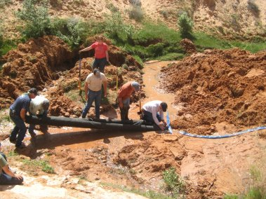 Jayi Canyon spring development work