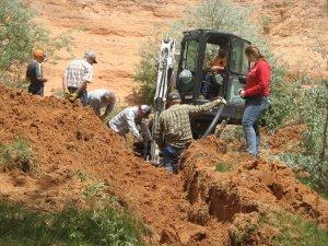 Jayi spring development trench digging
