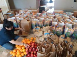 Food packing for distribution