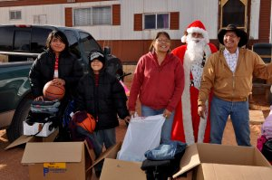 navajo santa and family