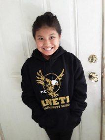 Navajo Santa goes to school student
