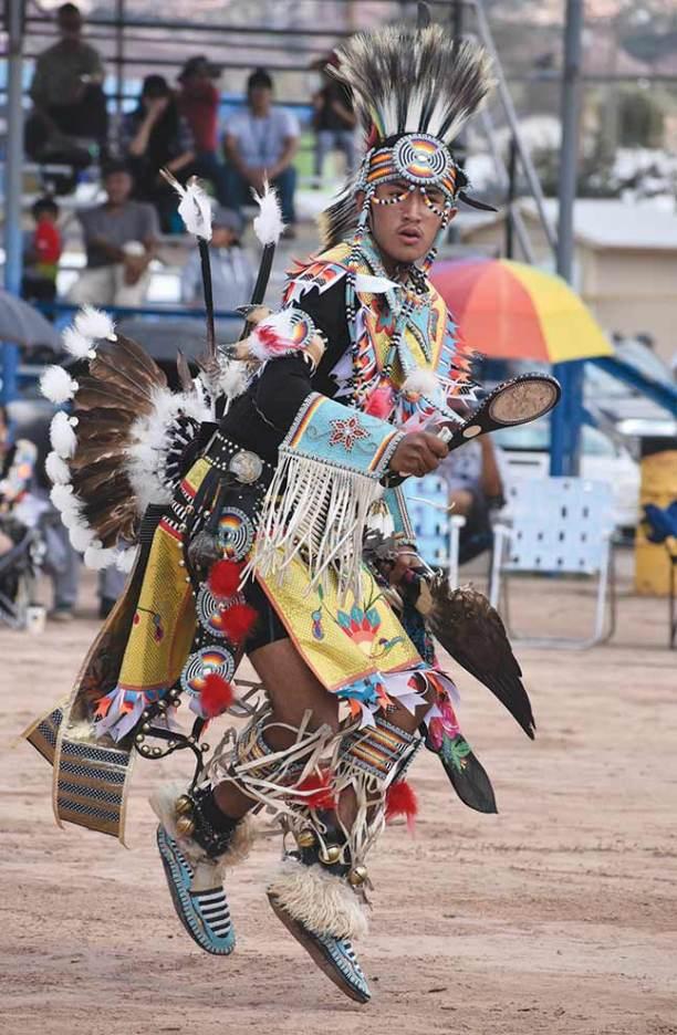 Navajo Times | Rima Krisst Headman Trevor Brimhall performs the chicken dance.