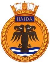 HMCS HAIDA ship's crest.