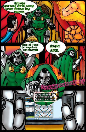 Here is a early one page story told from the eyes of Dr. Doom