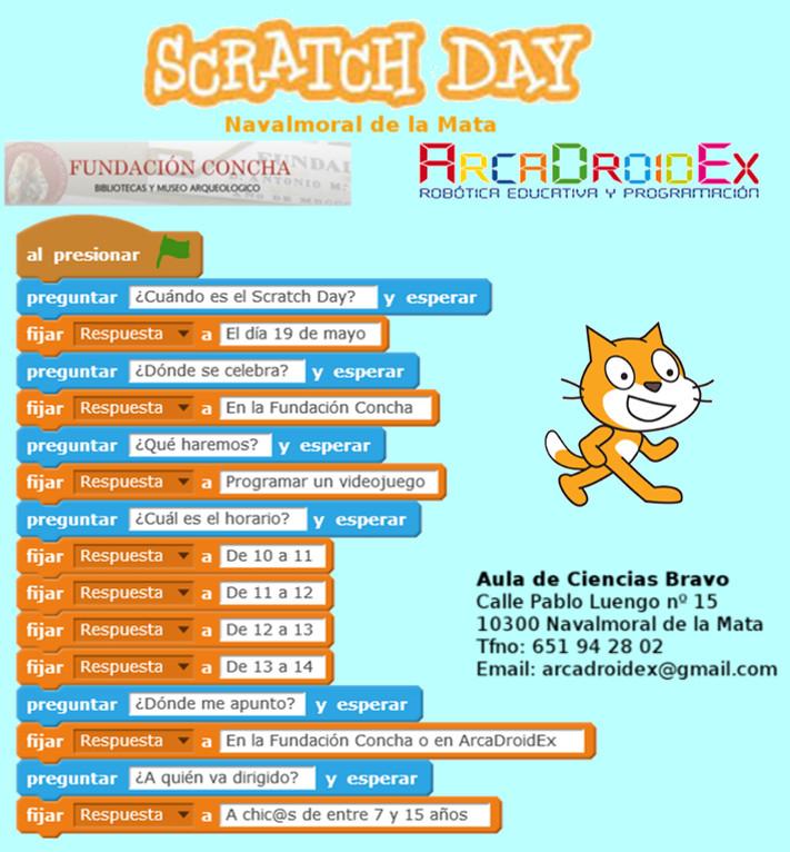 ArcaDroidEx - Robótica Educativa y Programación celebra el Scratch Day
