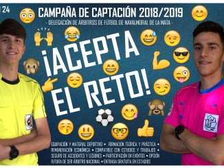 La Delegación de Árbitros de Fútbol de Navalmoral de la Mata pone en marcha la Campaña de Captación 2018/2019