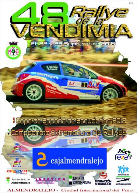 Ainoa de la Osa y Mari Márquez en el mítico Rallye de la Vendimia
