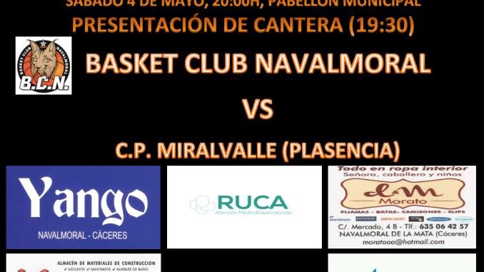 El sábado 4 de mayo, partido de vuelta de la FINAL NORTE entre Basket Club Navalmoral y C.P. Miravalle