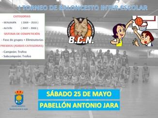 Primer torneo inter-escolar de baloncesto de Navalmoral de la Mata