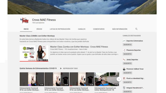 Cross MAE Fitness seguirá con sus Clases Online en YouTube