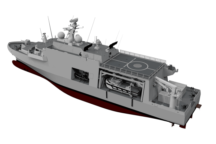 3D Illustration of the minehunter