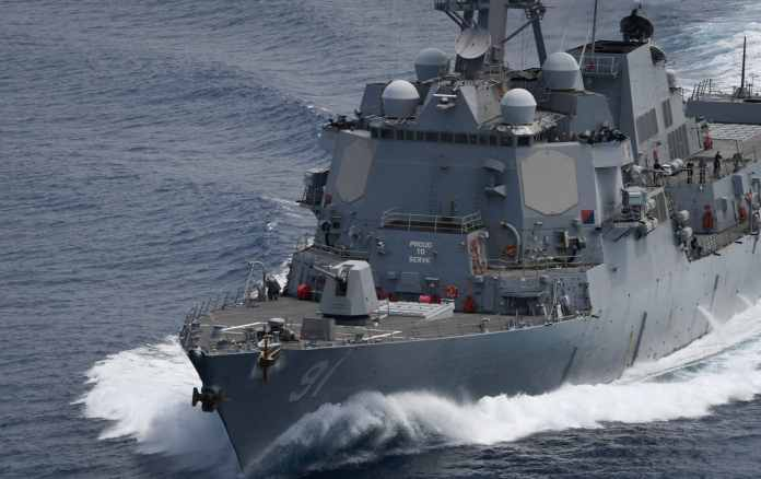 USS Pinckney conducts freedom of navigation ops