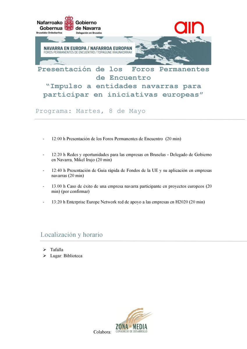 Presentación en Tafalla de la Guía rápida de fondos europeos para pymes