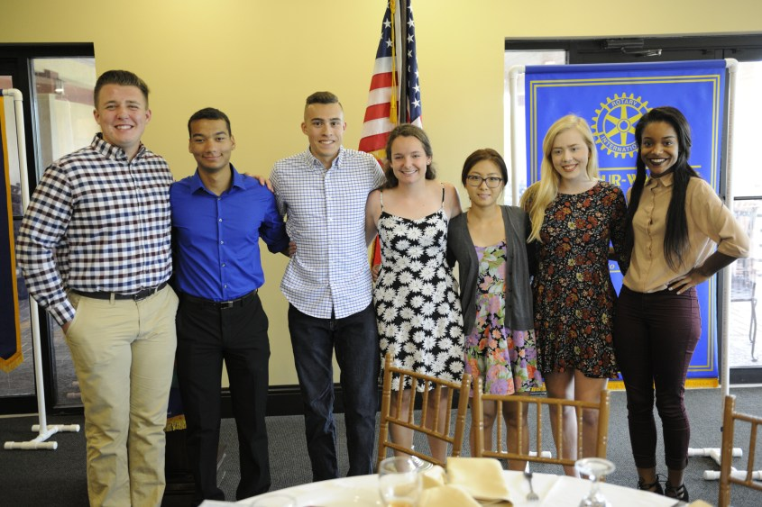 Scholarship winners pictured left to right are Ian McCullough, Cory Payne, Brandon Moncibias, Laurel Emerson, Lydia Kim, Katie Baldridge & Jada Murphy. Not pictured are Olivia Brahms, Carina Porcaro, Austin Corkren & John McGowan.